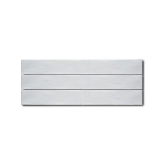 MML Brigo Series Satin White Subway Tiles 75 x 300mm SL622 Satin