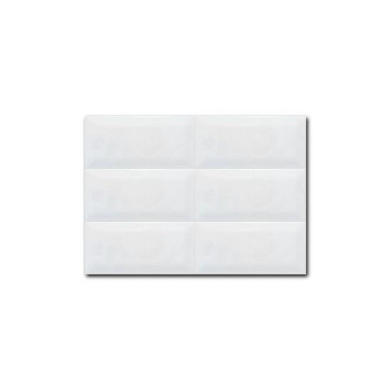 Chamfered Edge White Subway Tiles 100 x 200mm 12201
